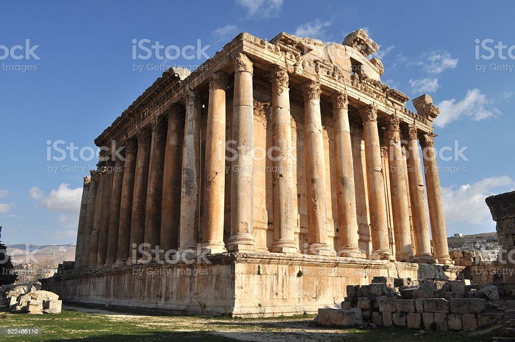The temple of Bacchus in Baalbek, Lebanon stock photo