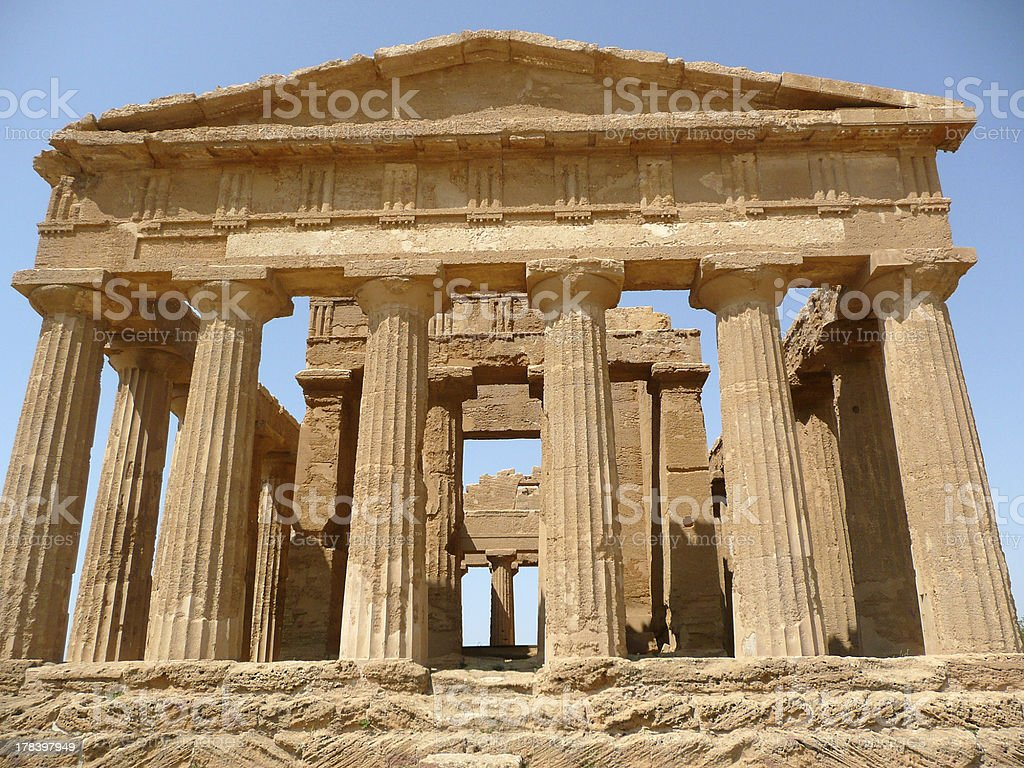 The Temple of Concordia, Agrigento, Italy royalty-free stock photo