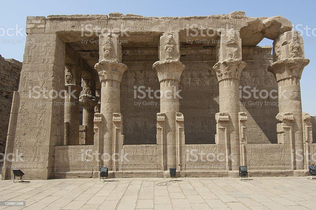 The Temple of Edfu in Egypt stock photo