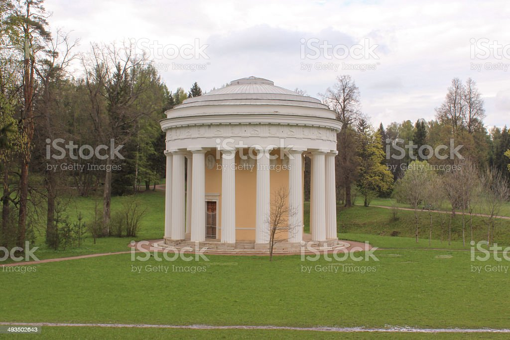 The Temple of Friendship in Pavlovsk Park (1780) stock photo
