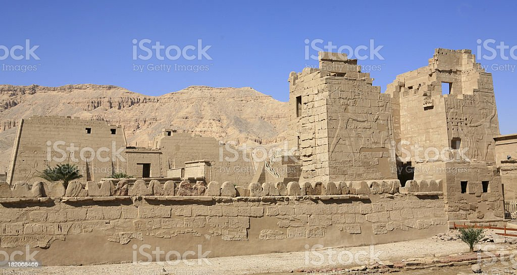 The Temple of Habu royalty-free stock photo
