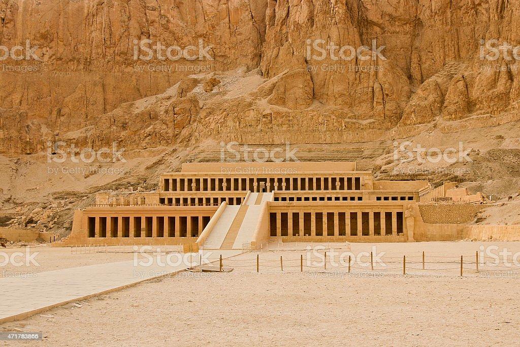 El templo de Hatshepsut cerca de Luxor en Egipto foto de stock libre de derechos
