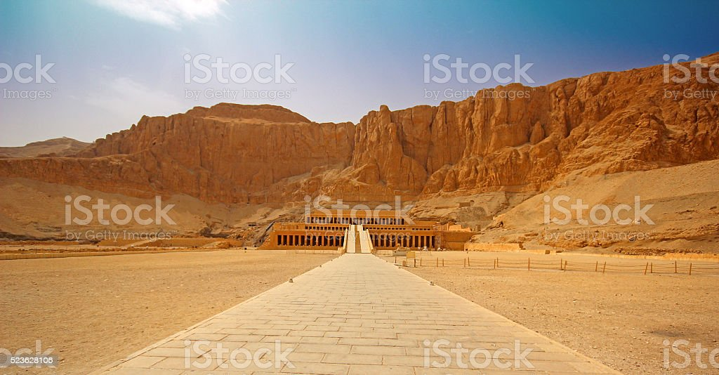 The temple of Hatshepsut near Luxor in Egypt stock photo