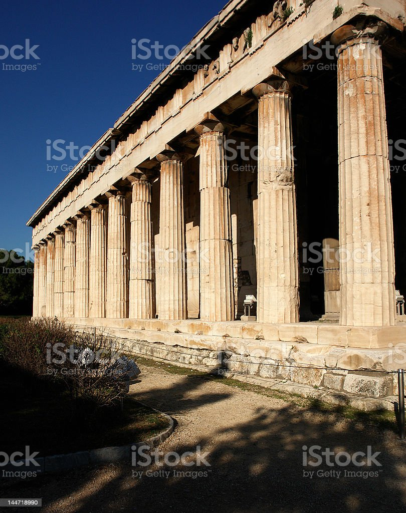 The Temple Of Hephaestus, Thission, In Athens royalty-free stock photo