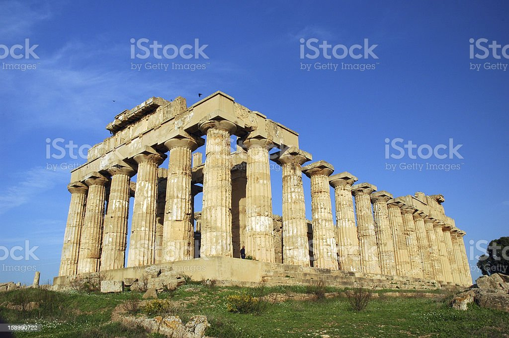The Temple of Hera, at Selinunte royalty-free stock photo