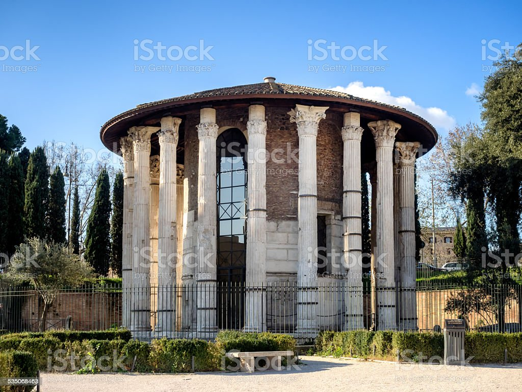 The Temple of Hercules Victor in Rome stock photo