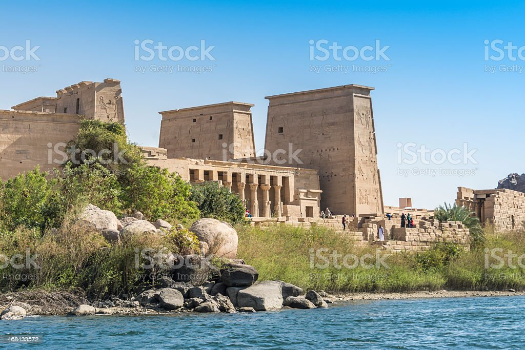 The temple of Isis from Philae, Aswan (Egypt) stock photo