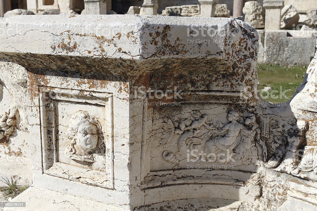 the Temple of Jupiter,Baalbeck stock photo