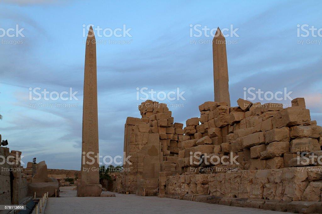 The temple of Karnak in Egypt stock photo