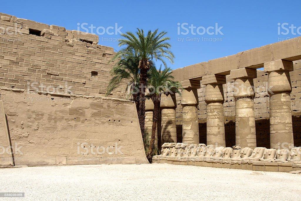 The temple of Karnak in Luxor stock photo