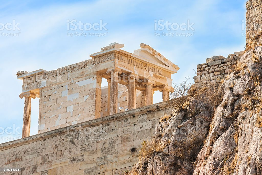 The temple of Nike in Acropolis, Greece. stock photo