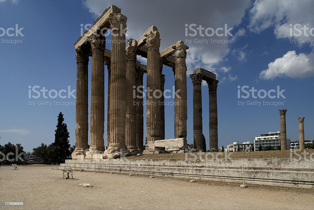 The Temple of Olympian Zeus, Athens royalty-free stock photo
