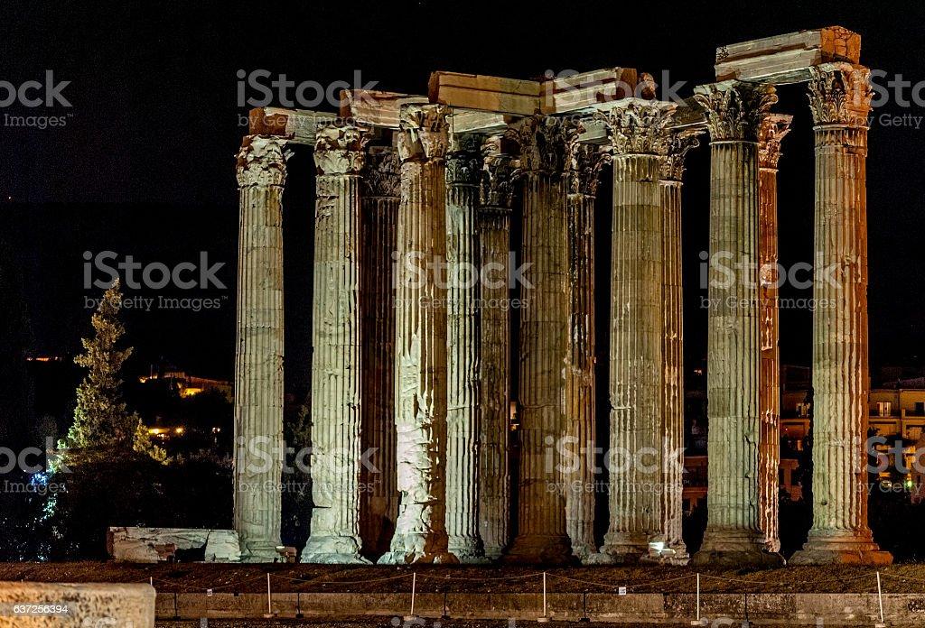 The Temple of Olympian Zeus stock photo