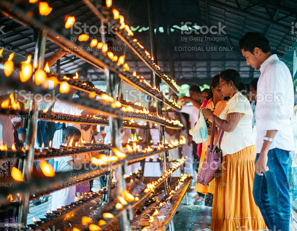 The temple of the tooth in Sri lanka stock photo