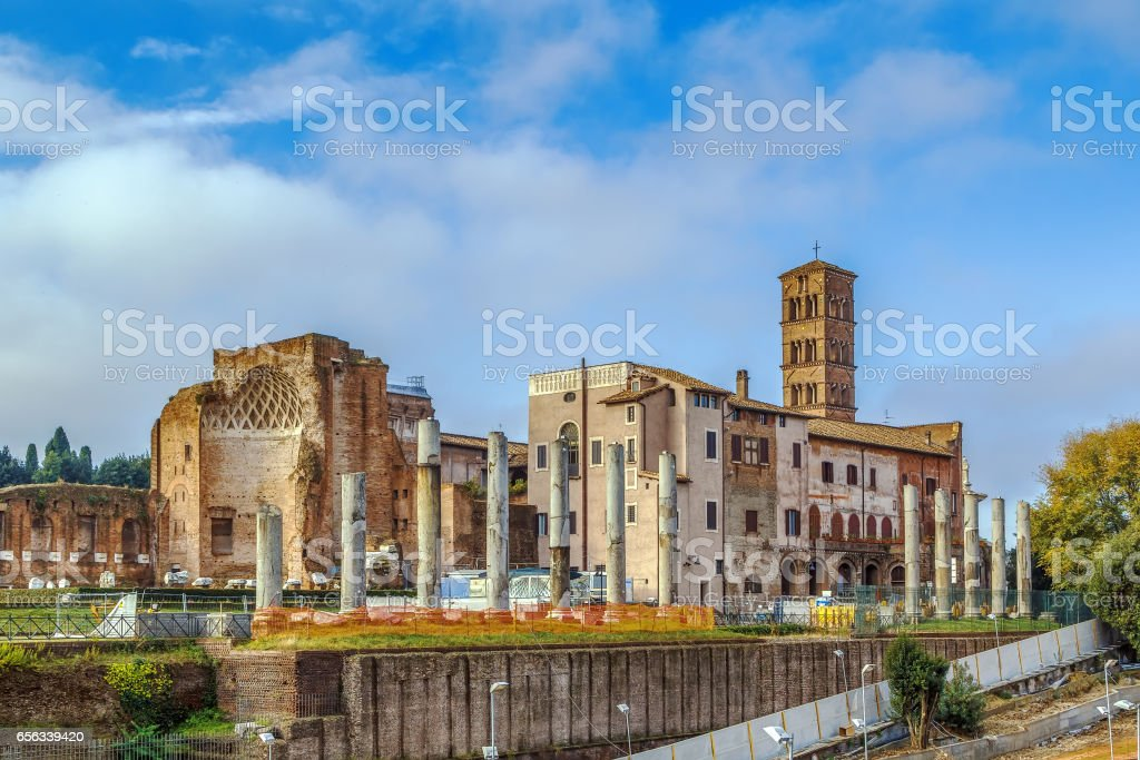 The Temple of Venus and Roma stock photo