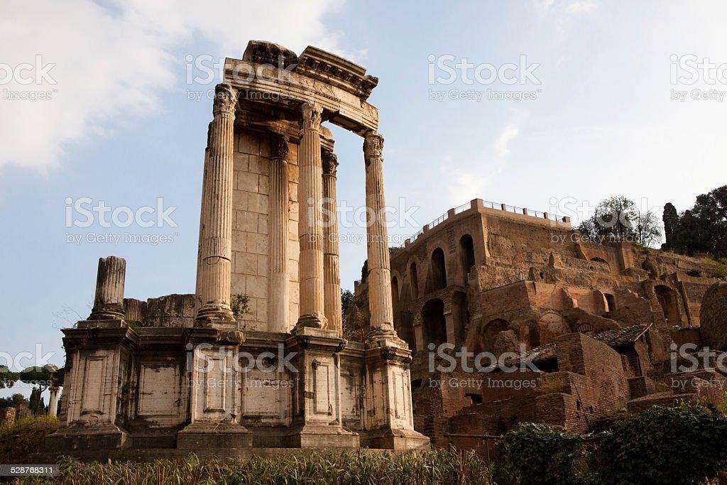The Temple of Vesta stock photo