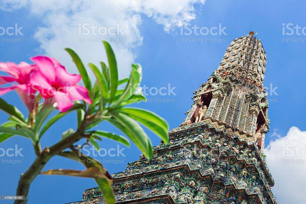 The temple of Wat Arun in Bangkok stock photo
