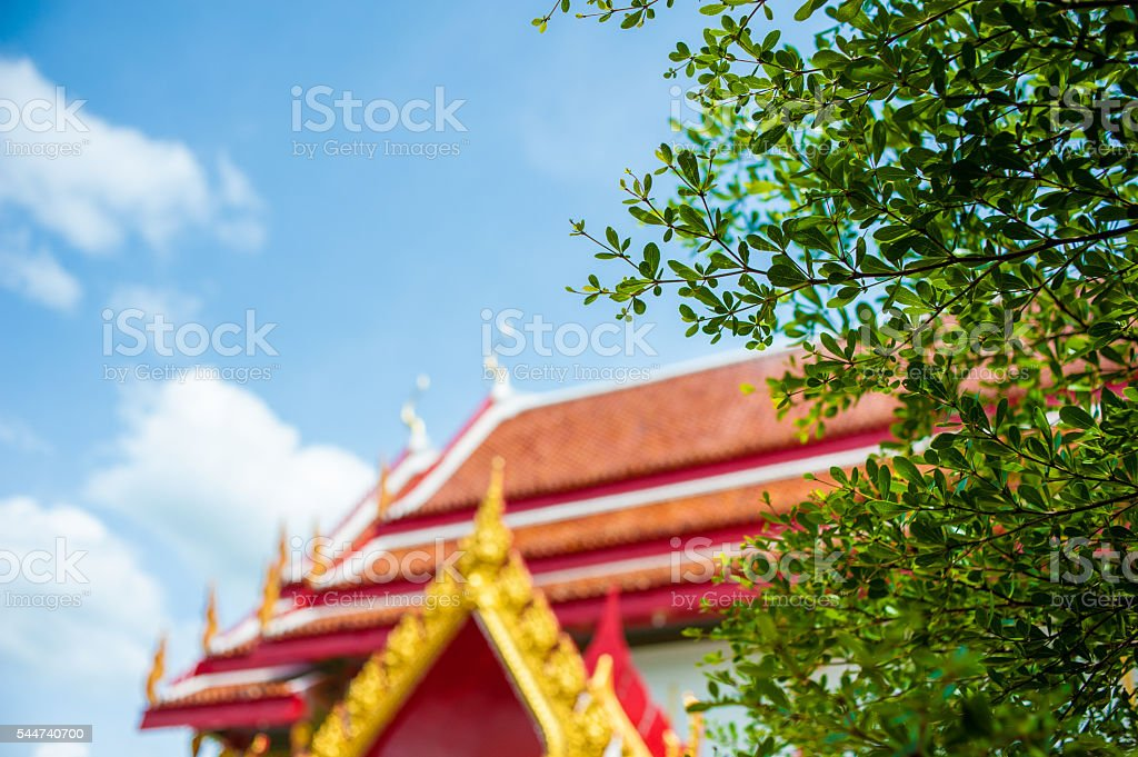 the temple thailand colors roof  asia sky and colors stock photo