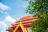 the temple thailand colors roof  asia sky and colors