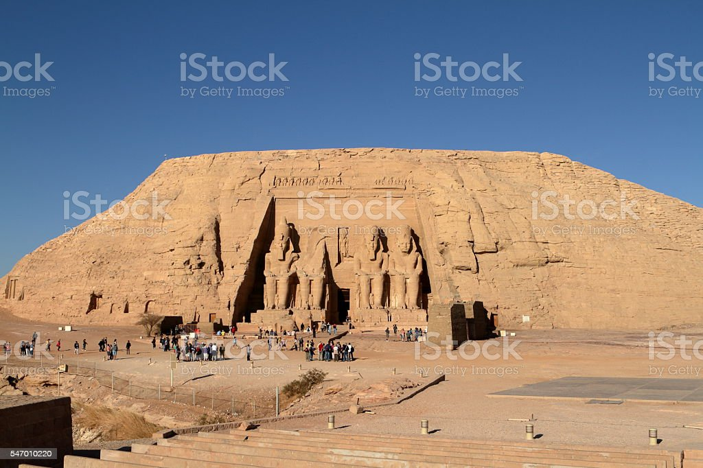 The temples of Abu Simbel in Egypt stock photo