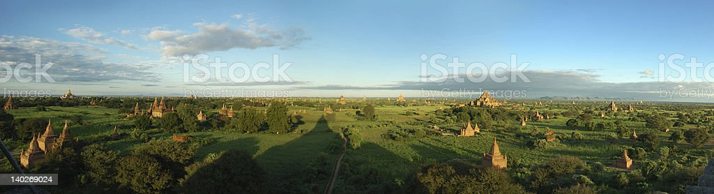 the temples of bagan royalty-free stock photo