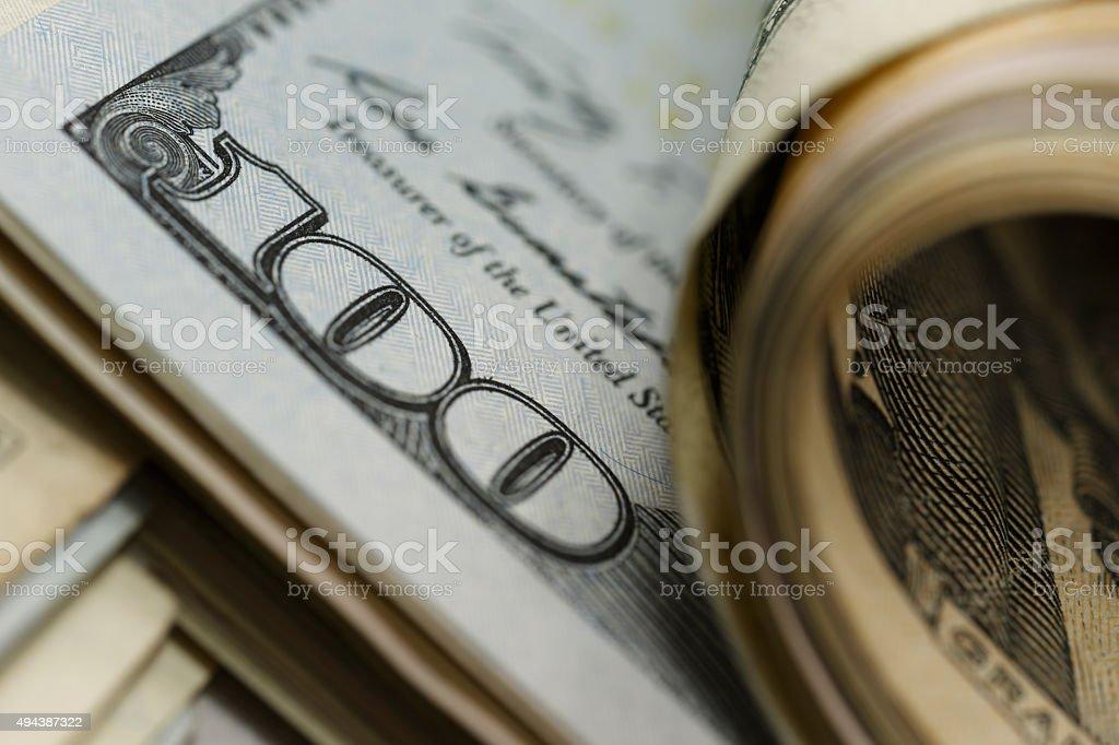 The temptation of money stock photo