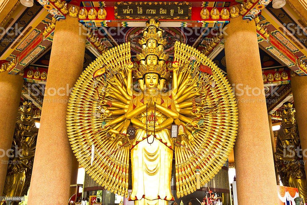 Diecimila mani della statua del buddha foto stock royalty-free