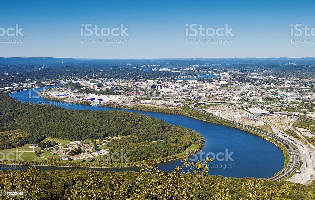 The Tennessee River stock photo