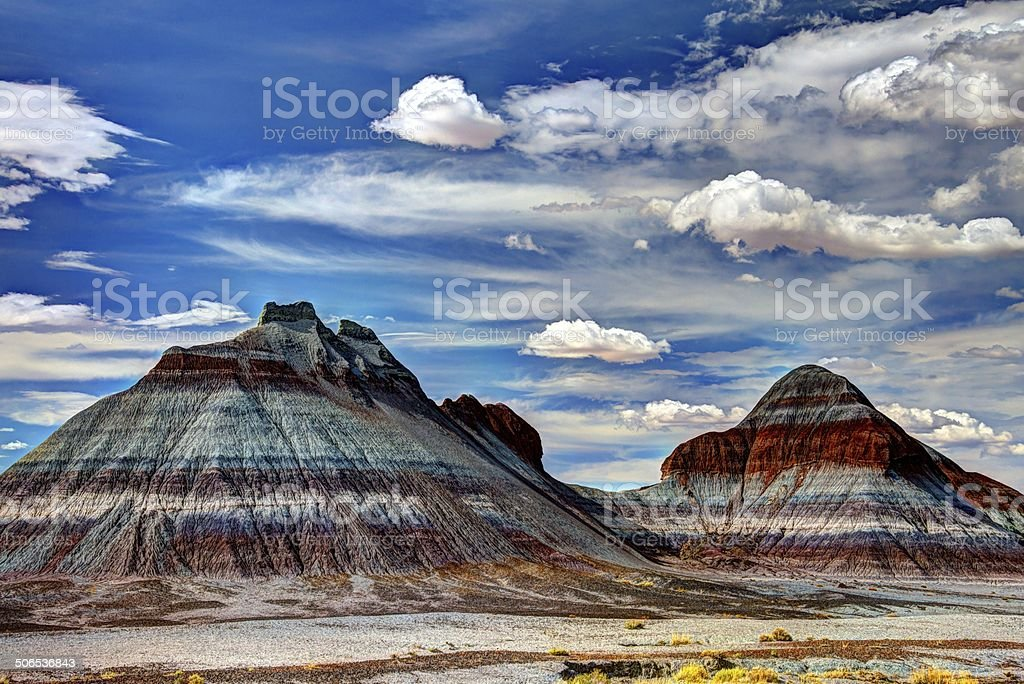 The Tepees at Petrified Forest National Park stock photo