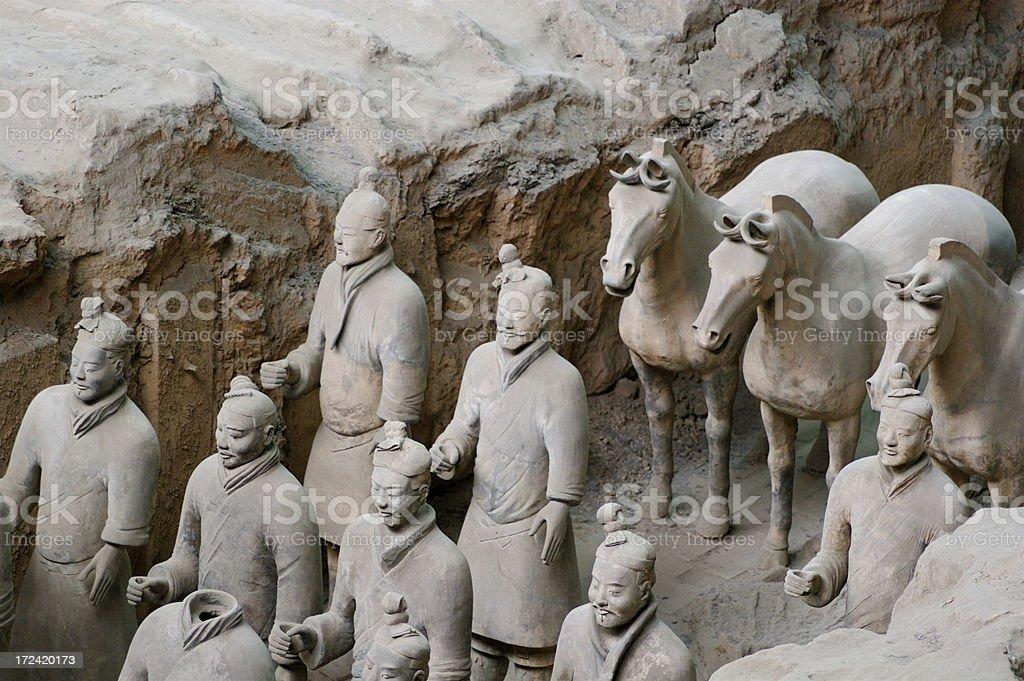 The Terra Cotta Warriors of Xian China royalty-free stock photo