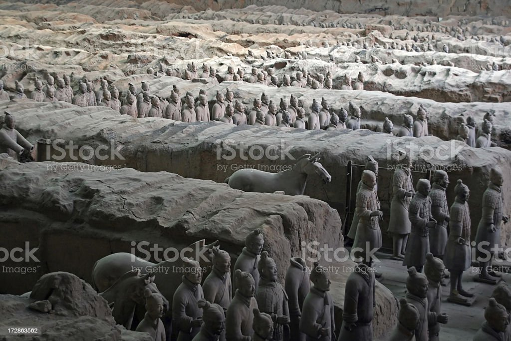The Terracota Army royalty-free stock photo