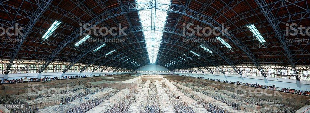 The Terracotta Army Panoramic stock photo