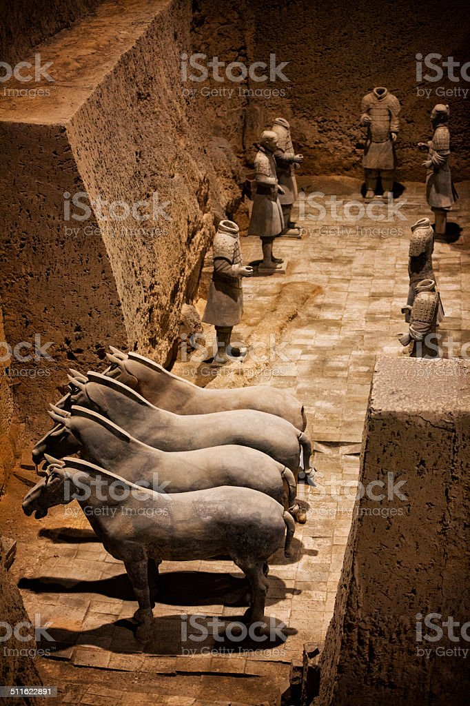 The Terracotta Army stock photo