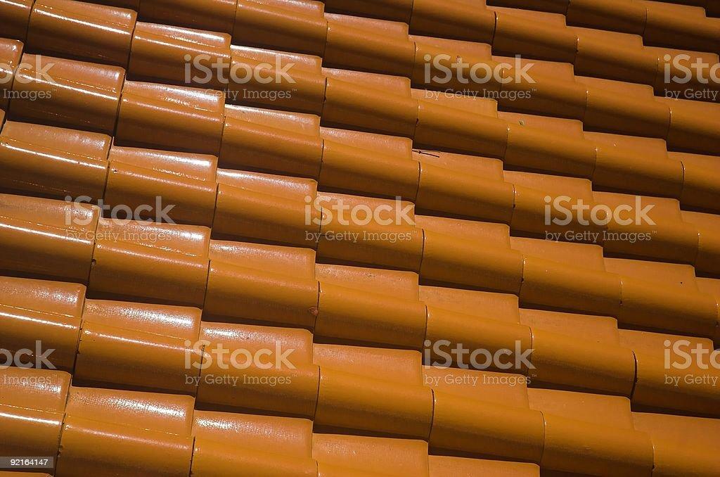The Terracotta Tiles royalty-free stock photo