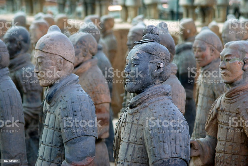 The terracotta warriors in China  stock photo