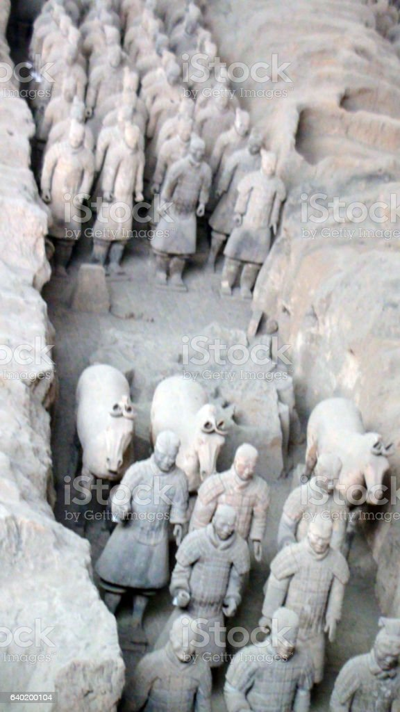 The Terracotta Warriors In Xi'an,Shaanxi Province.China East Asia stock photo