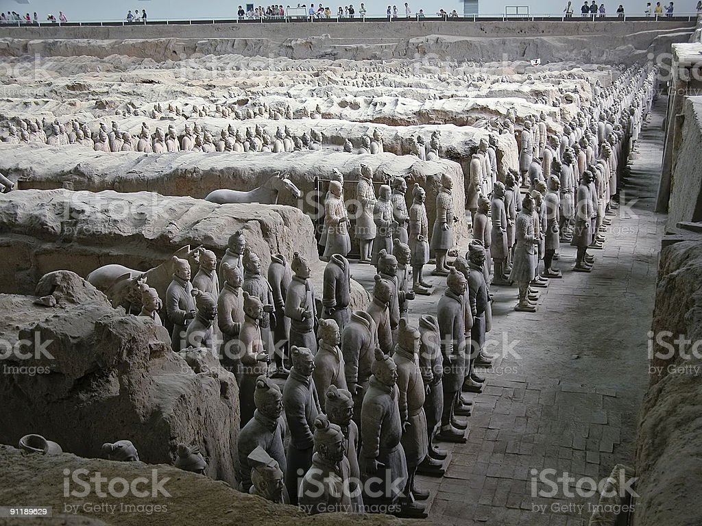 The Terracotta Warriors royalty-free stock photo