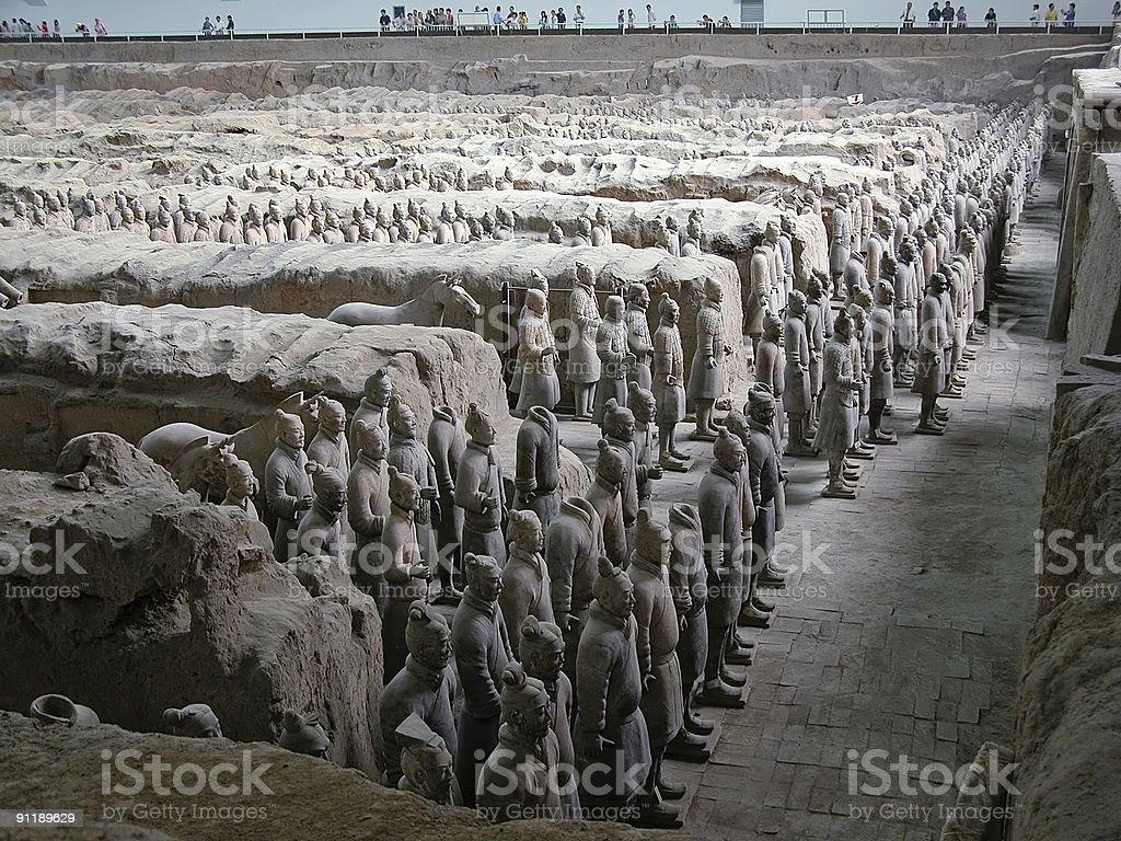 The Terracotta Warriors stock photo