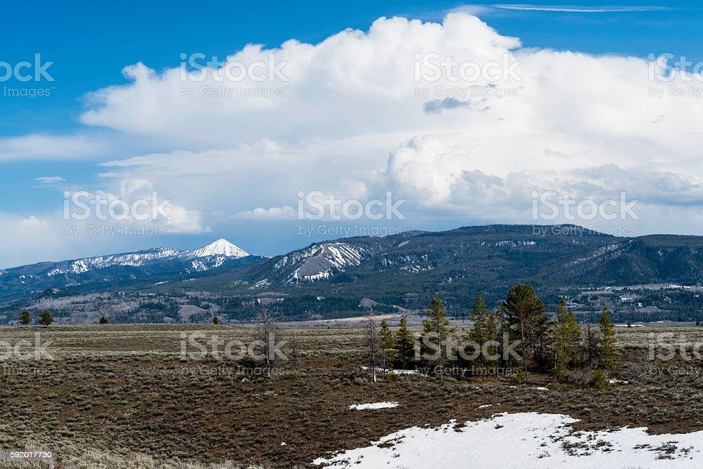 The Teton Range, Jackson Hole, Wyoming stock photo