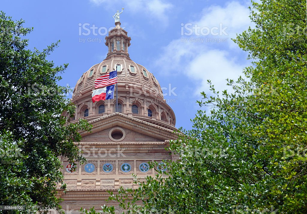 The Texas State Capitol building in Austin, Texas stock photo