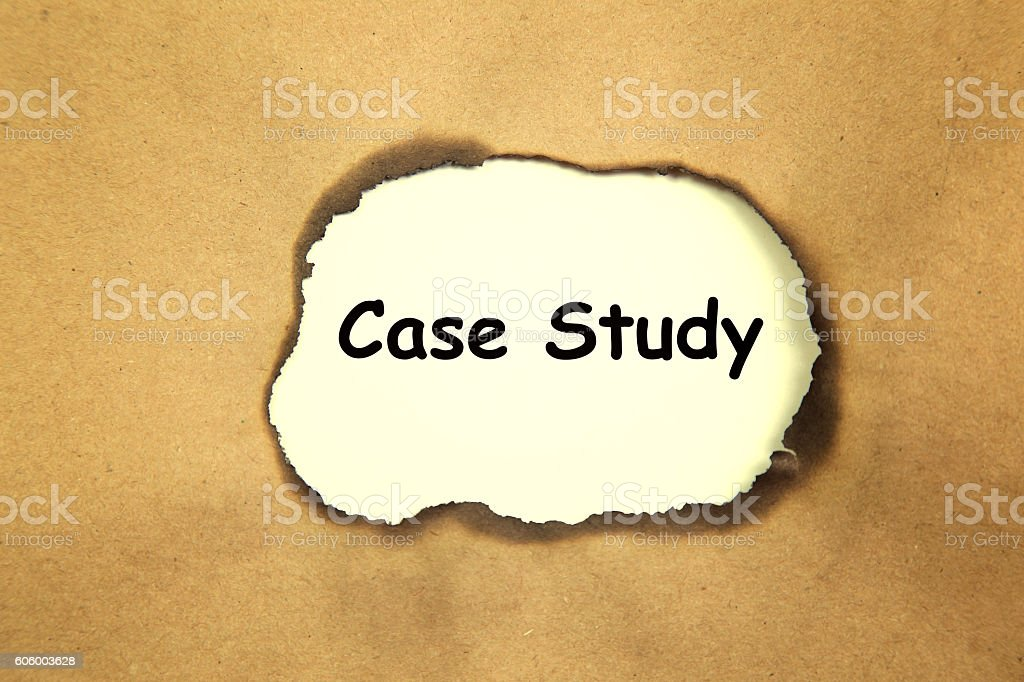 The text Case Study appearing stock photo