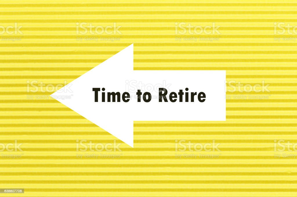 The text TIME TO RETIRE appearing behind torn paper. stock photo