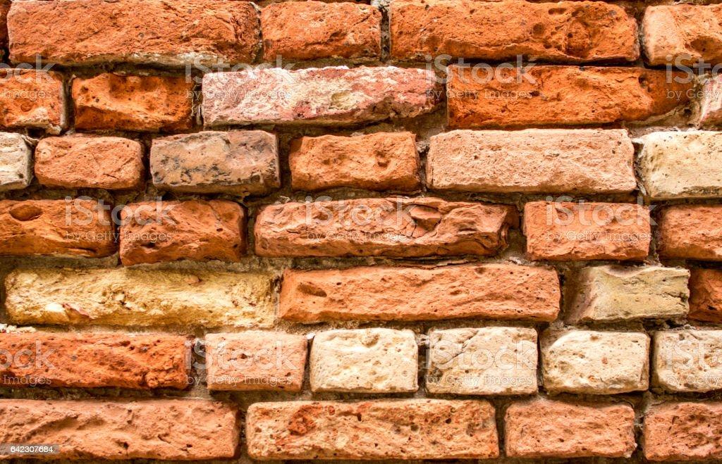 The texture of the brickwork stock photo