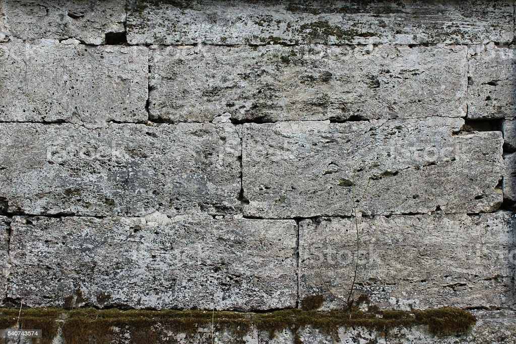 The texture of the stones in blank wall. stock photo