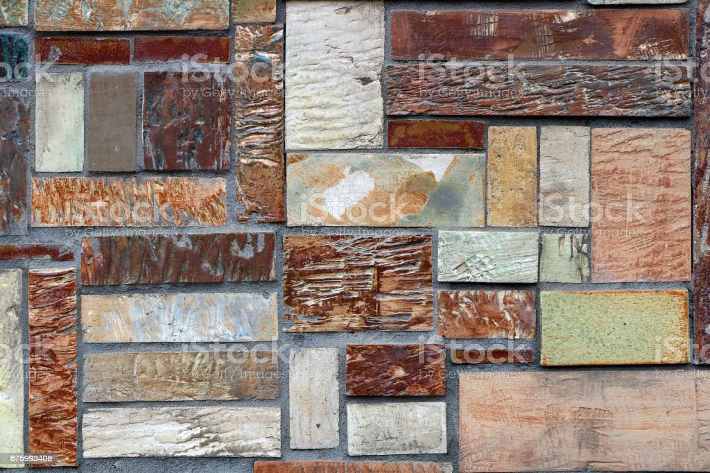 The texture of various walls stock photo