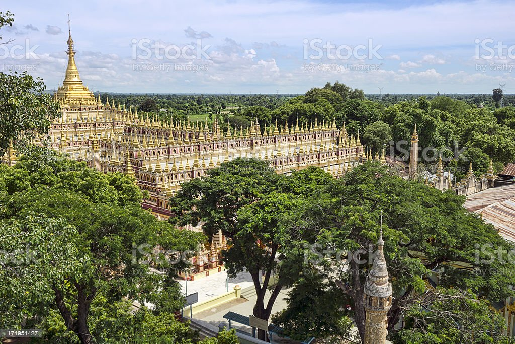 The Thanboddhay temple in Monywa (Myanmar) stock photo