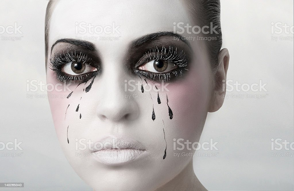 The theater of tears stock photo