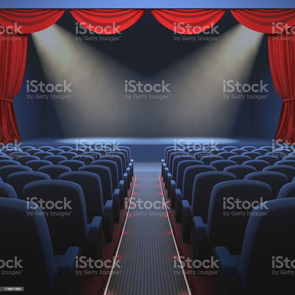 The Theater royalty-free stock photo