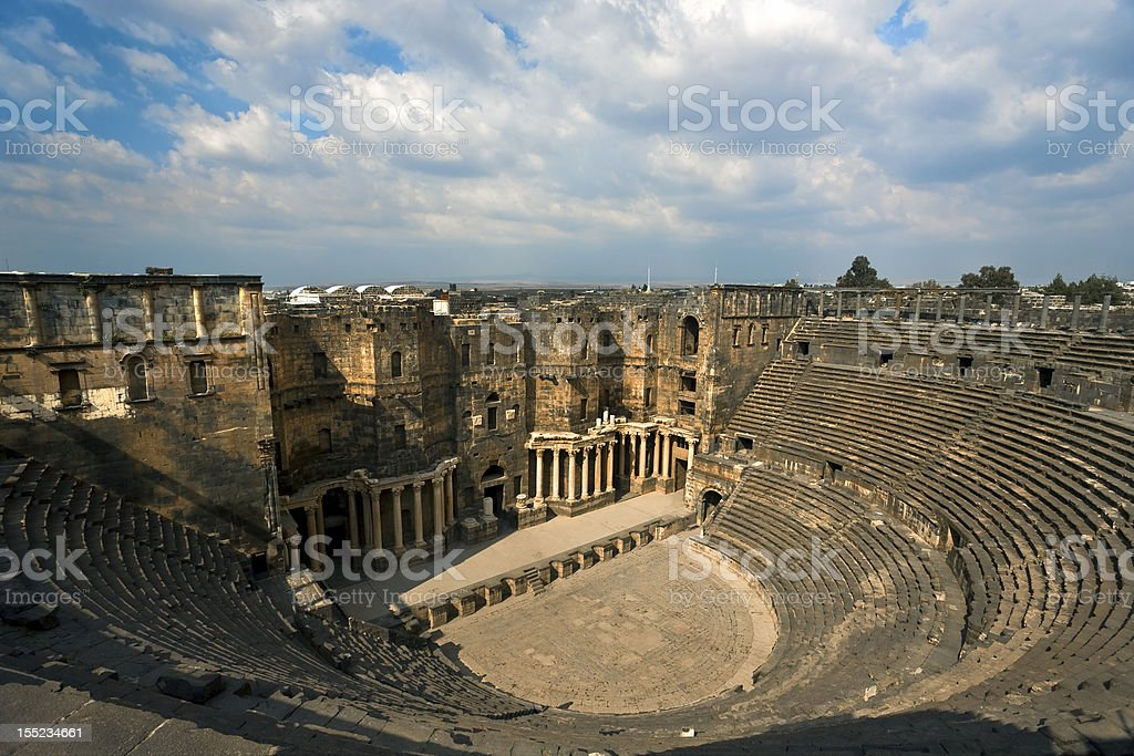 The theatre in Bosra royalty-free stock photo