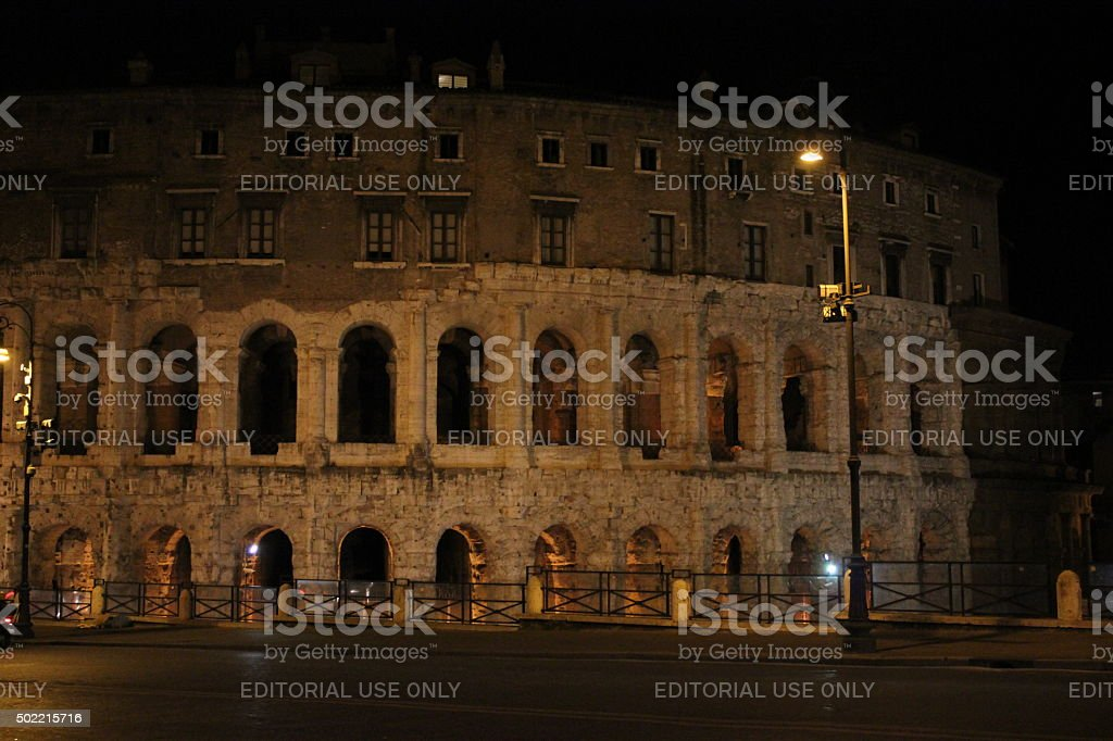 The Theatre of Marcellus in Rome stock photo